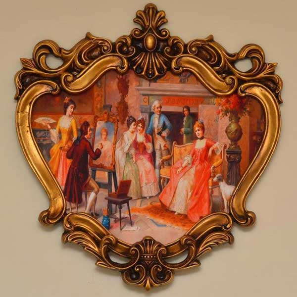 Print on Velvet fabric with European Frames